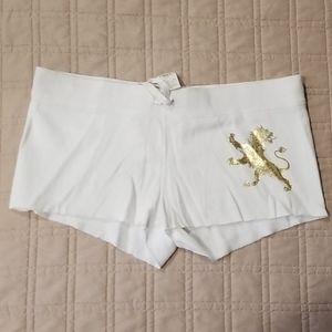 Express white shorts large
